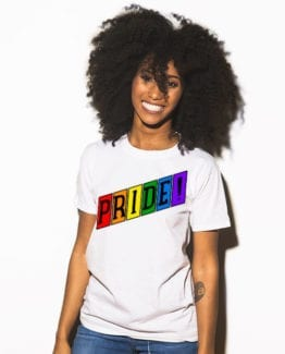 This is the main model photo for the Pride Shirts: Retro Gay Pride